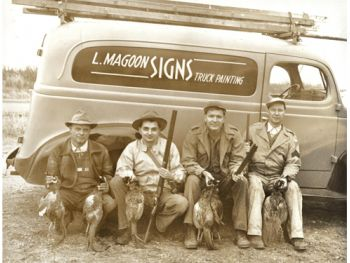 Shop Truck - Lowell with hunting buddies Image
